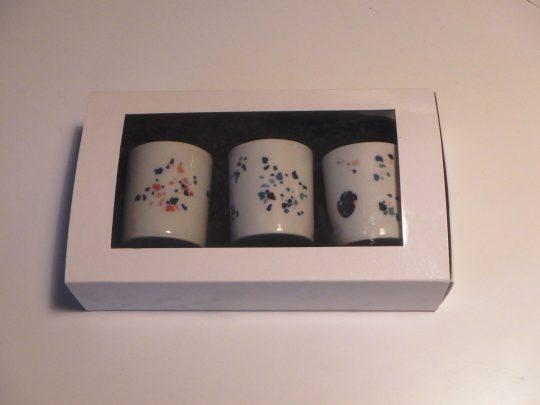 Coffret 3 petites bougies porcelaine