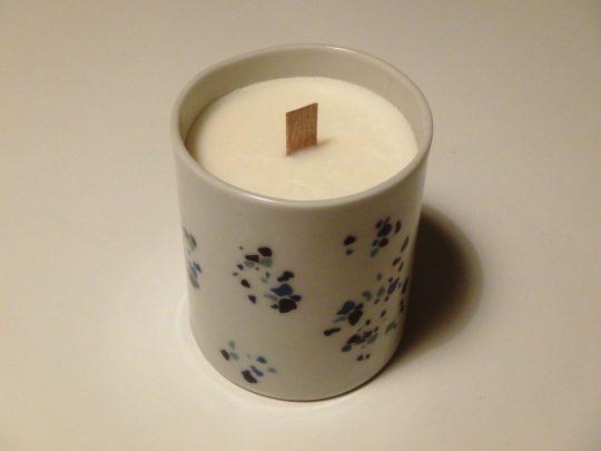 Grande bougie Fleur d'Oranger porcelaine