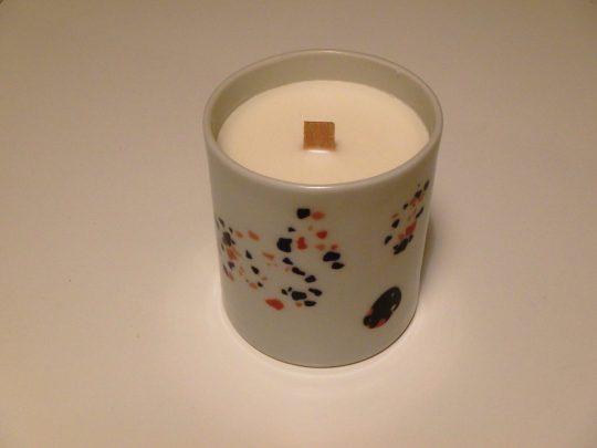 Grande bougie Mandarine Basilic porcelaine