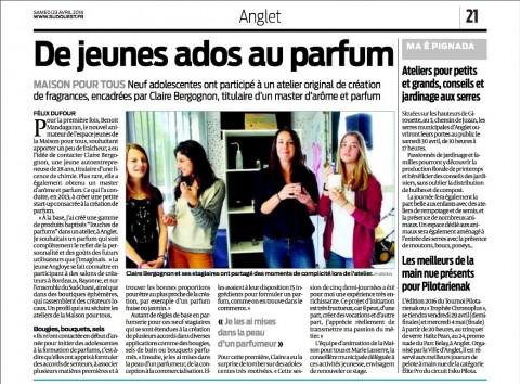 Article Touches de Parfum Sud-Ouest